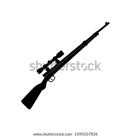 isolated modern rifle  weapon