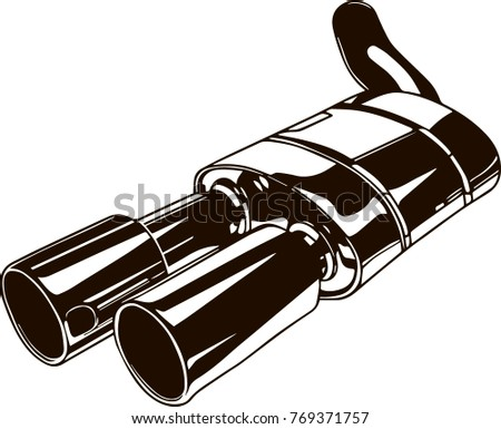 Muffler free vector pack download free vector art stock graphics isolated monochrome illustration of car exhaust pipe malvernweather