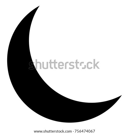 Isolated moon silhouette on a white background, vector illustration