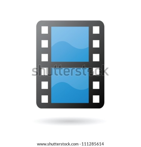 Isolated movie film as clip art