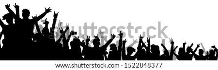 isolated music concert crowd