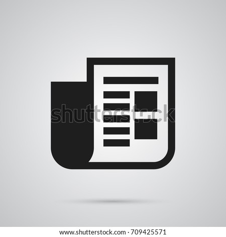 Isolated Newspaper Icon Symbol On Clean Background. Vector Journal  Element In Trendy Style.