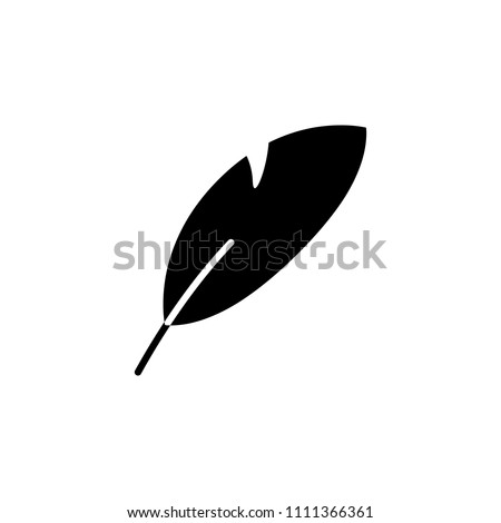 Isolated Nib Icon. Plume Vector Element Can Be Used For Nib, Feather, Pen Design Concept.