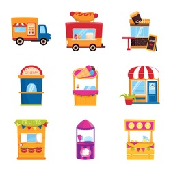 Isolated object of and booth logo. Collection of and vending stock vector illustration.