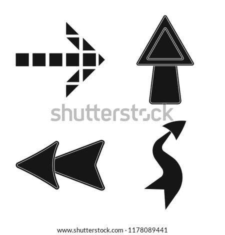 Isolated object of element and arrow symbol. Collection of element and direction stock vector illustration. #1178089441