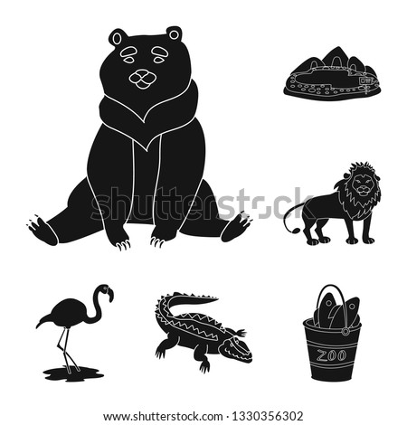 Isolated object of fauna and entertainment sign. Collection of fauna and park vector icon for stock.