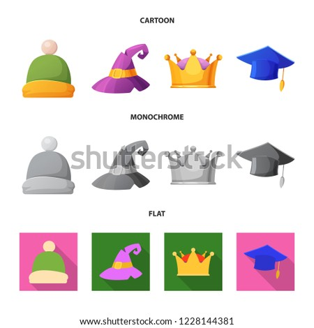 isolated object of headgear and