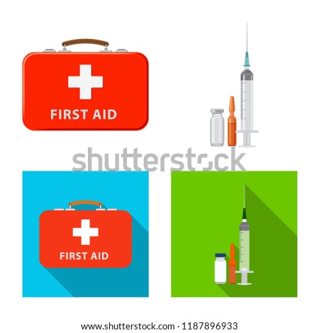 Isolated object of pharmacy and hospital sign. Set of pharmacy and business stock symbol for web.