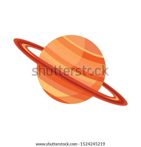 Isolated object of saturn and ring sign. Graphic of saturn and stars stock symbol for web. Stockfoto ©