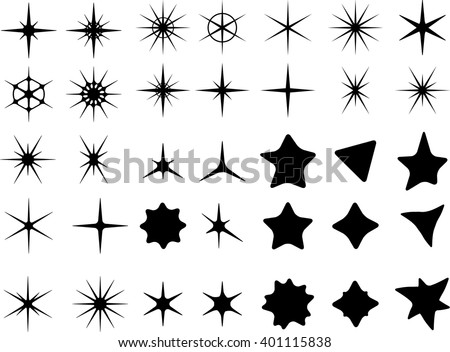 Isolated on a white background star symbols.
