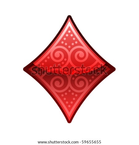 Isolated Ornamental Poker Symbol
