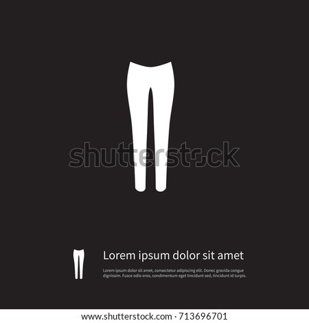 isolated pantaloons icon