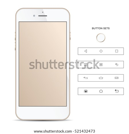 isolated phone with buttons