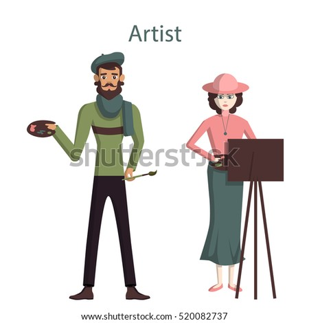 isolated professional artists