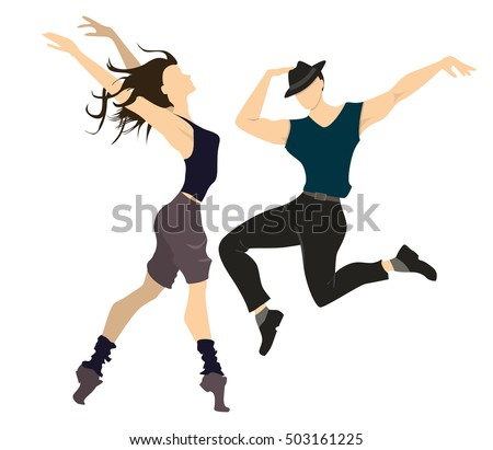 isolated professional dancers