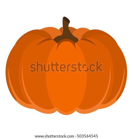 stock-vector-isolated-pumpkin-on-a-white-background-thanksgiving-day-vector-illustration