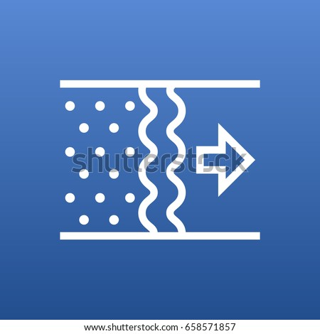 Isolated Purification Outline Symbol On Clean Background. Vector Air Element In Trendy Style.