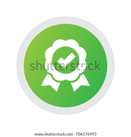 Isolated Quality Icon Symbol On Clean Background. Vector Award Element In Trendy Style.