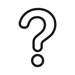 Isolated question mark outline icon
