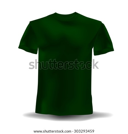 isolated realistic dark green