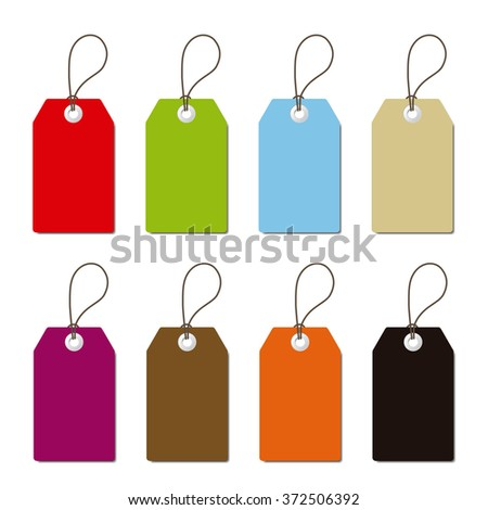 isolated rectangular labels set
