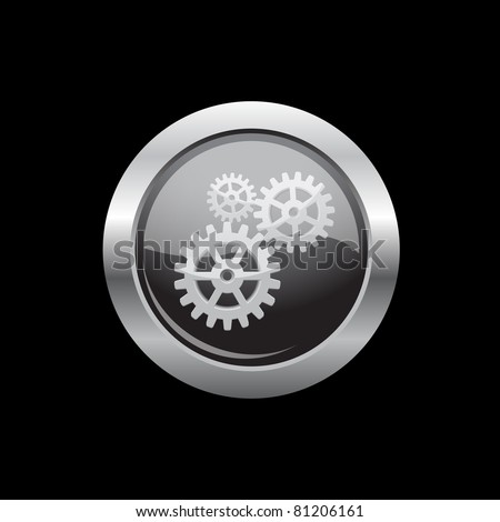 Isolated repairing metal button, vector illustration, eps10