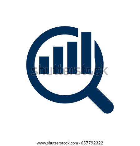 Isolated Research Icon Symbol On Clean Background. Vector Market  Element In Trendy Style.