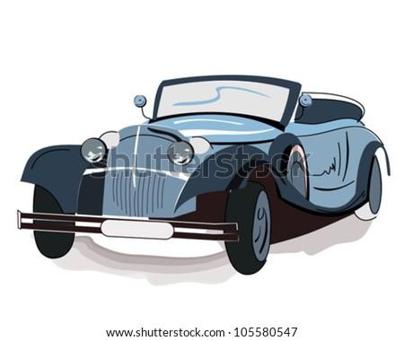 Isolated retro car