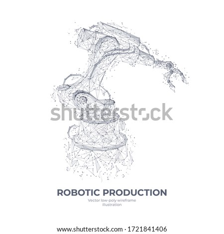 isolated robotic arm in white