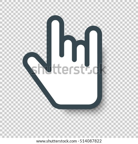 isolated rock on hand sign