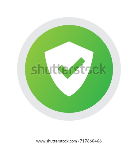 Isolated Safety Icon Symbol On Clean Background. Vector Protected Element In Trendy Style.