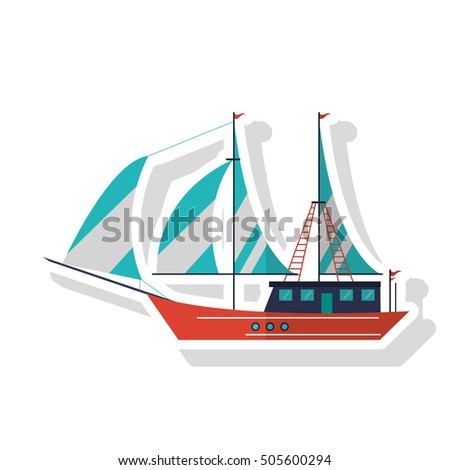 Isolated sailboat ship design