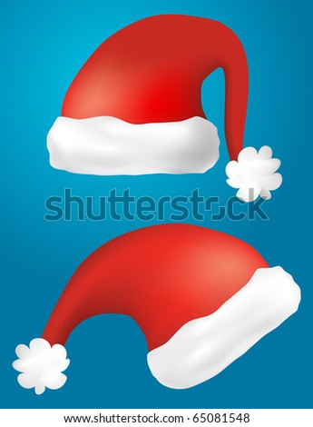 isolated santa claus hats