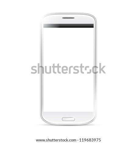 Isolated shining smartphone vector eps10