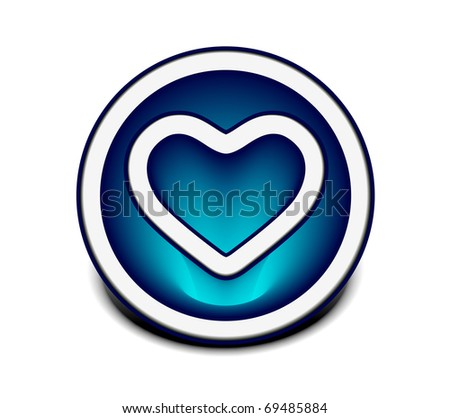 Isolated shiny heart vector icon design.