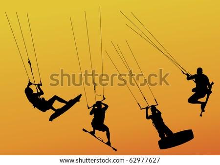 Kitesurfing Logo Vorlage Kostenloser Vektor - Kostenlose Vektor ...