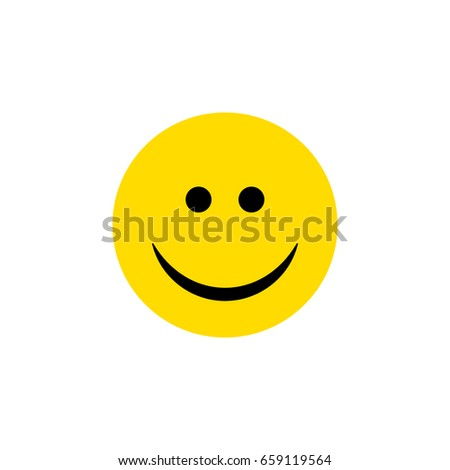 isolated smile flat icon joy