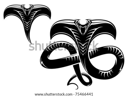 Isolated snakes as a sign or mascot - also as emblem, such a logo. Jpeg version also available