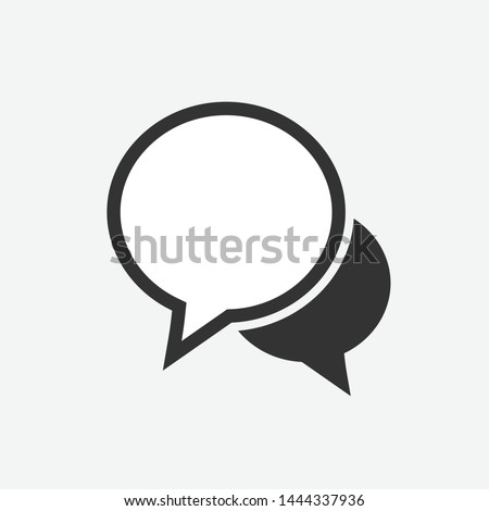 Isolated speech bubbles, Conversation icon