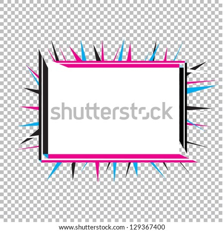 Isolated Spiked Sign for Text. Vector Illustration