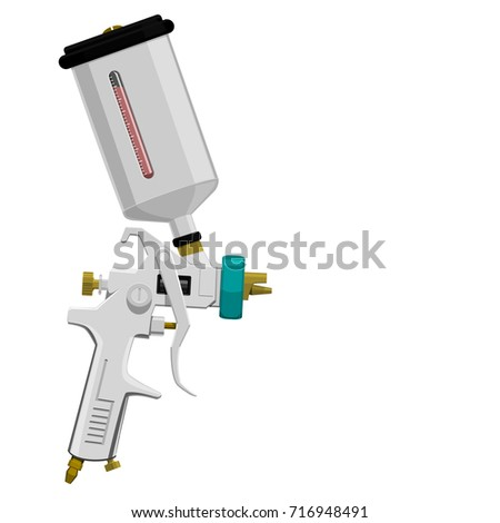 isolated spray gun