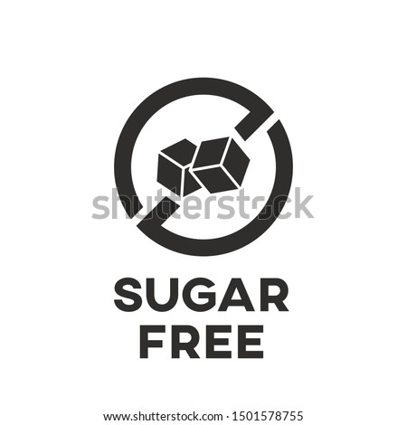 Isolated sugar free icon vector design. Diabetic food mark. ストックフォト ©