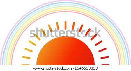 isolated sun and rainbow