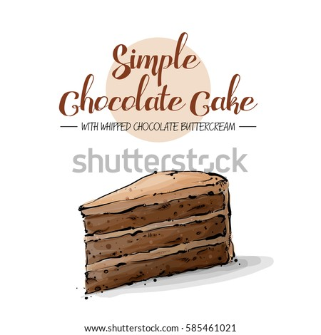 isolated tasty cake sketch and