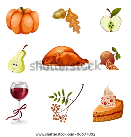 Isolated thanksgiving icons #86697082