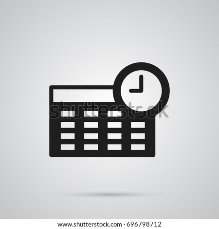 Isolated Timetable Icon Symbol On Clean Background. Vector Schedule Element In Trendy Style.
