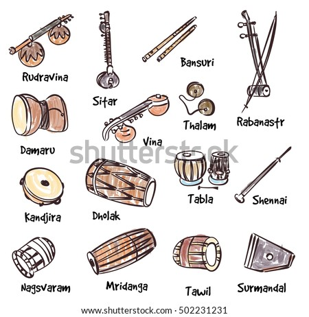 Traditional Music Instrument Icons Vector - Download Free