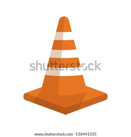 Isolated traffic cone design