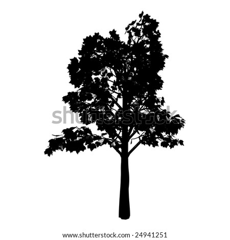 tree silhouette vector. Silhouette - vector