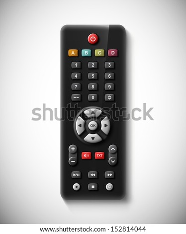 Isolated TV remote. Eps 10
